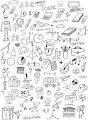 hand drawn education vector set