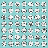 Hand drawn emoji icons set 1