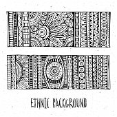hand drawn ethnic patterns