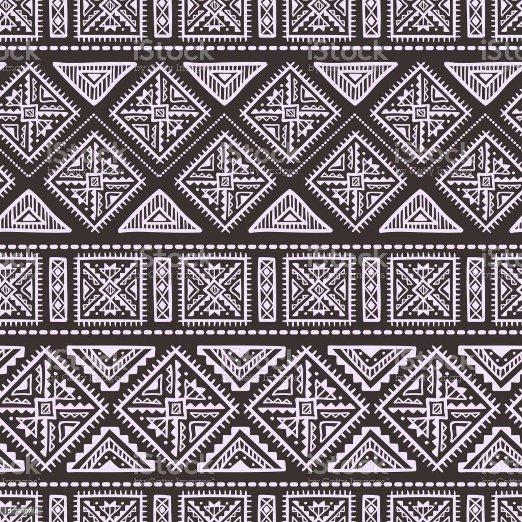 Hand Drawn ethnischen nahtlose Muster – Vektorgrafik