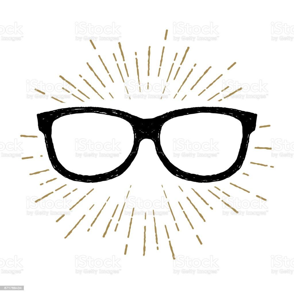 62f72a2f8ea4e5 Hand getrokken bril vector illustratie. royalty free hand getrokken bril  vector illustratie stockvectorkunst en meer