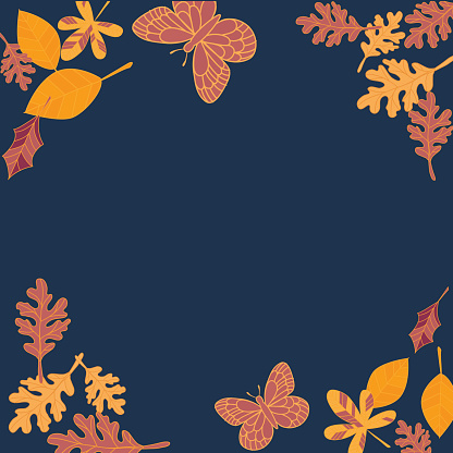 Hand Drawn Fall Leaves Background