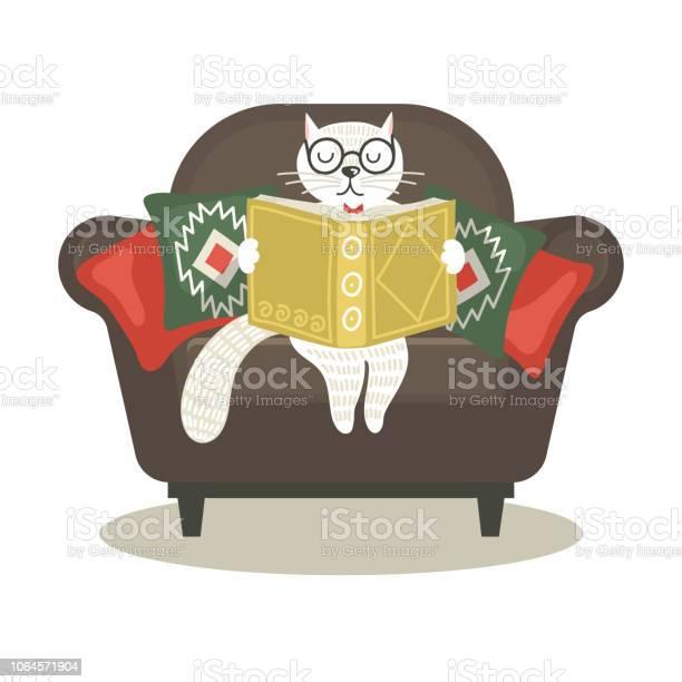 Hand drawn fantasy cat sitting in armchair and reading book vector id1064571904?b=1&k=6&m=1064571904&s=612x612&h=nkb4dn5pws4zdtt lkdaqidrrseu3lzdkguxd3hum9u=