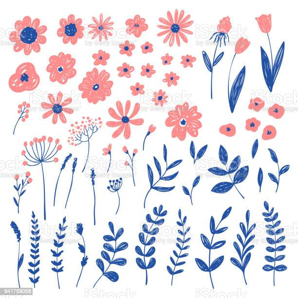 Hand drawn fashion pink floral elements vector doodle background vector id941759058?b=1&k=6&m=941759058&s=612x612&h=rcah6jujgno3fdgck7upnnehvtx4p1eiehqru jhur0=