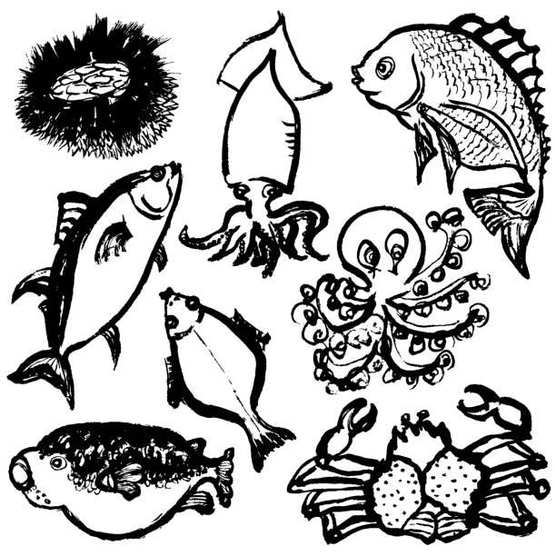 描画の魚を手します。 - 和食点のイラスト素材/クリップアート素材/マンガ素材/アイコン素材
