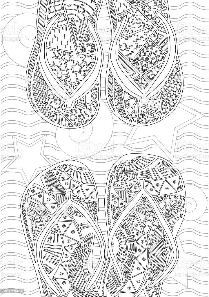 Dibujado A Mano Zentangle De Fracasos De Tirón Para Libro De ...