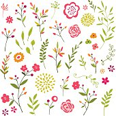 Hand drawn floral design elements.  Hi res jpeg included.  Scroll down to see more of my illustrations.