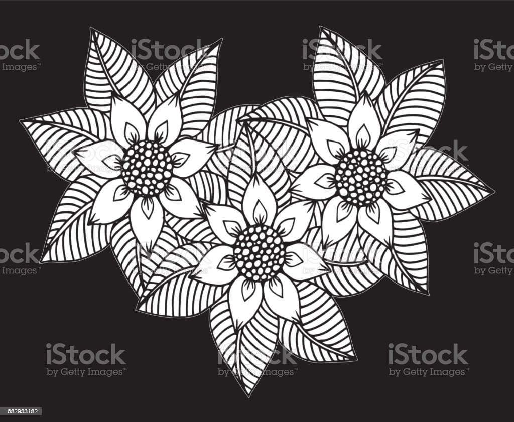 Hand drawn floral doodle. Coloring pages for book - Illustration Circle, Ink, Coloring, Drawing - Activity, Formal Garden royalty-free hand drawn floral doodle coloring pages for book illustration circle ink coloring drawing activity formal garden stock vector art & more images of abstract