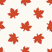 Hand Drawn floral seamless pattern with leaves.