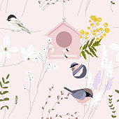istock hand drawn floral spring seamless pattern 1240323504