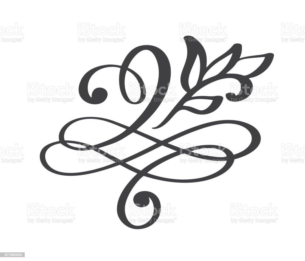 hand drawn flourish calligraphy elements vector illustration stock rh istockphoto com free flourish vector clipart free corner flourish vector