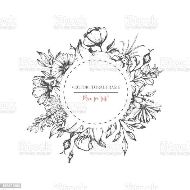 Hand drawn flower round frame vector id859821390?b=1&k=6&m=859821390&s=612x612&h=f4t 47siptcug6bs7iikbko lvmzs04wni8yesbrjce=