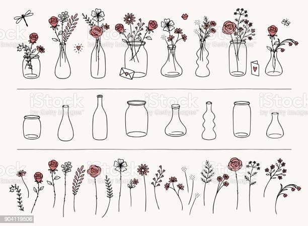 Hand drawn flowers and vases vector id904119506?b=1&k=6&m=904119506&s=612x612&h=pzd61xwglrtkmela8hslxt wnhf6jea5u9djrgfer7g=