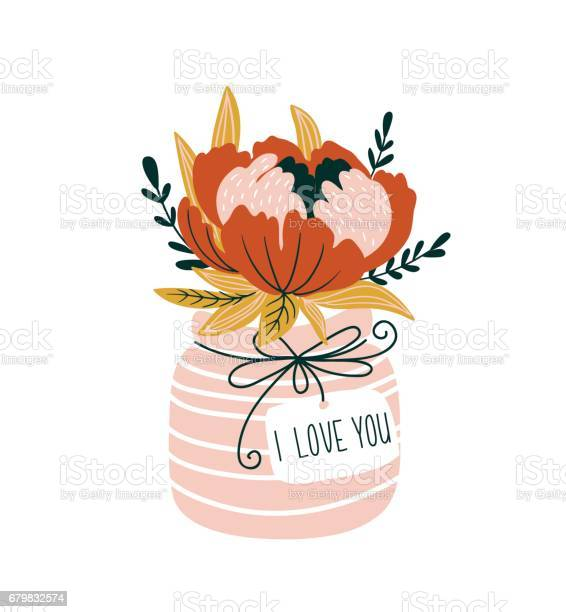 Hand drawn flowers in the vase with tag i love you scandinavian style vector id679832574?b=1&k=6&m=679832574&s=612x612&h=miatcm197fhyf qet3fyqiey2tjzh5ccqwcphyxnmg4=