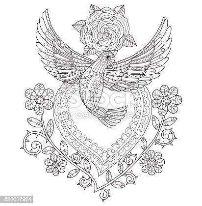istock Stylized dove bird 620990626 istock Mano dibuja dos palomas ...