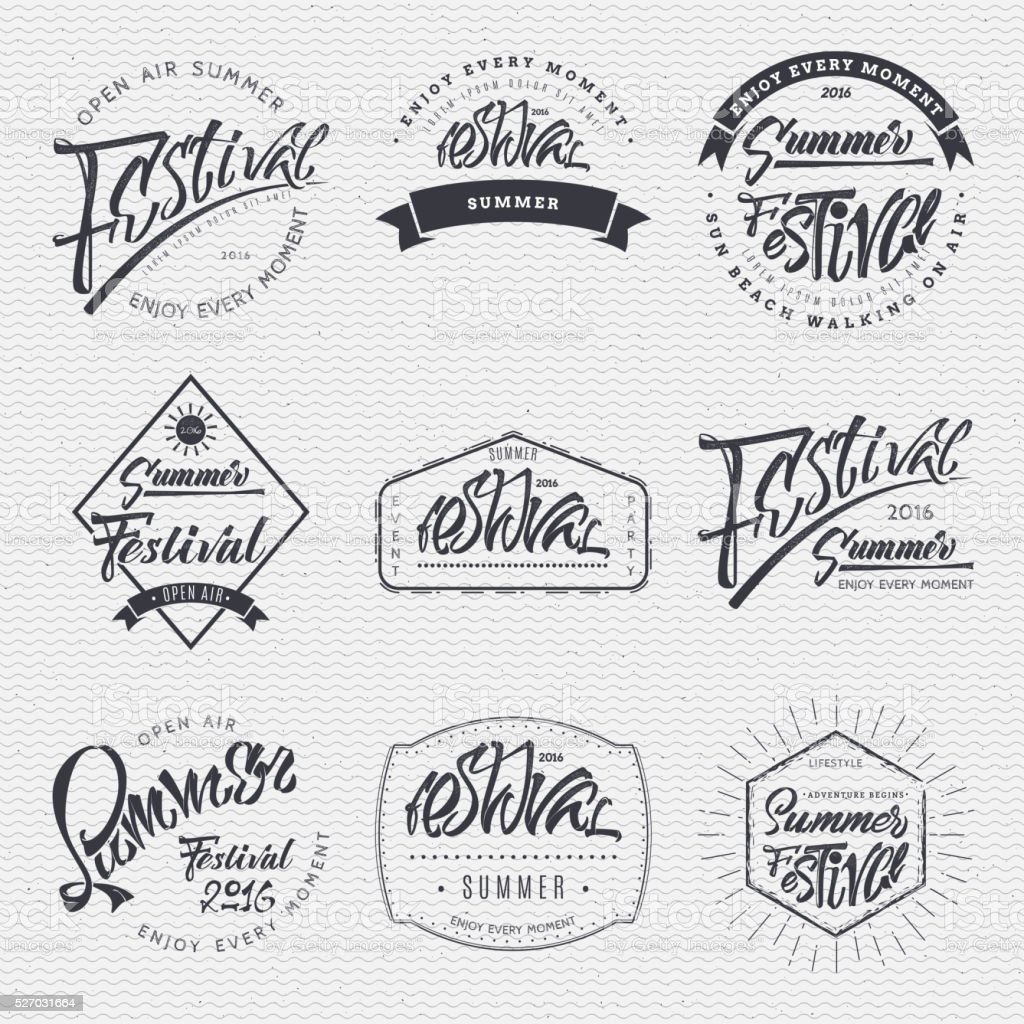 Hand drawn font handwriting brush vector art illustration