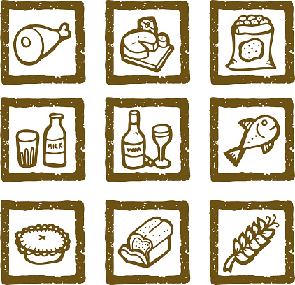 Hand drawn food icons