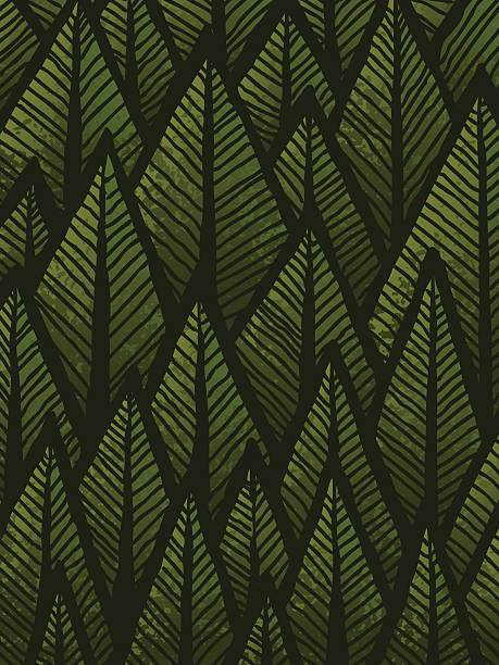 Hand drawn Forest Background vector art illustration