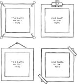 Hand - drawn frame.