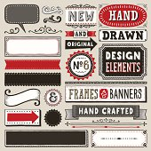 Set of hand drawn design elements.More works like this linked below.
