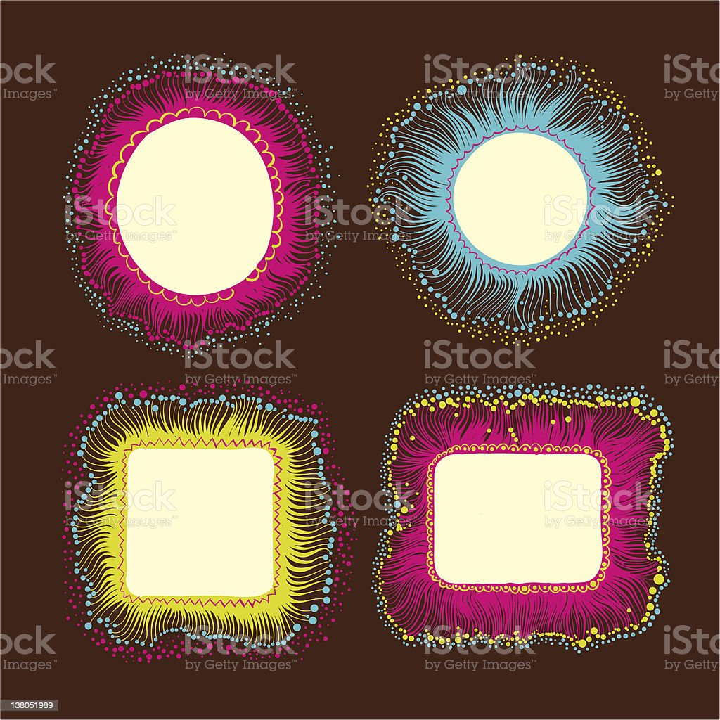 Hand drawn frames set royalty-free hand drawn frames set stock vector art & more images of abstract