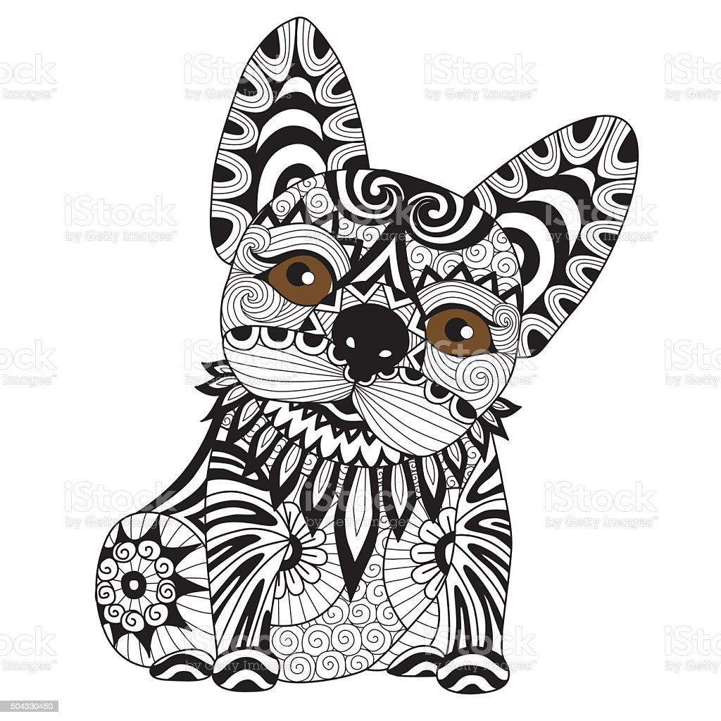 Hand Drawn French Bulldog Puppy Stock Illustration Download Image Now Istock