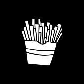 Hand Drawn French Fries Vector Illustration
