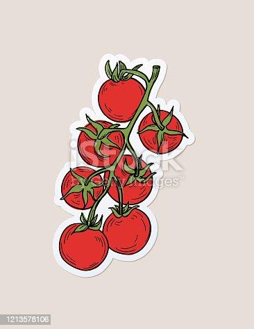 istock Hand Drawn Fresh Food Sticker 1213578106