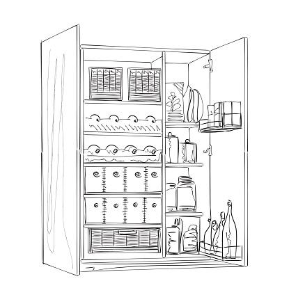 Hand drawn furniture sketch