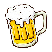 istock Hand Drawn Glass of Beer 1038586226