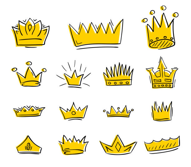 King Crown Vector Art Graphics Freevector Com Cartoon golden crowns on the colorful ribbons vector. king crown vector art graphics freevector com
