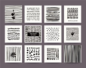 Hand Drawn Grunge Textures Collection. Vector Set