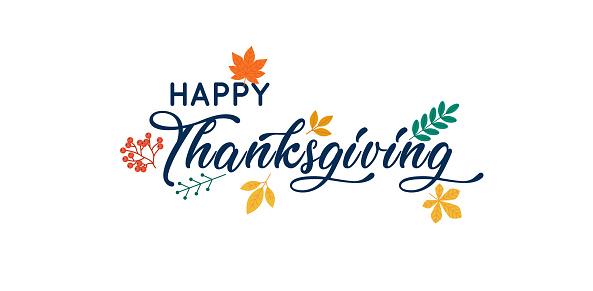 Hand Drawn Happy Thanksgiving Typography Poster - Stockowe grafiki wektorowe i więcej obrazów Abstrakcja