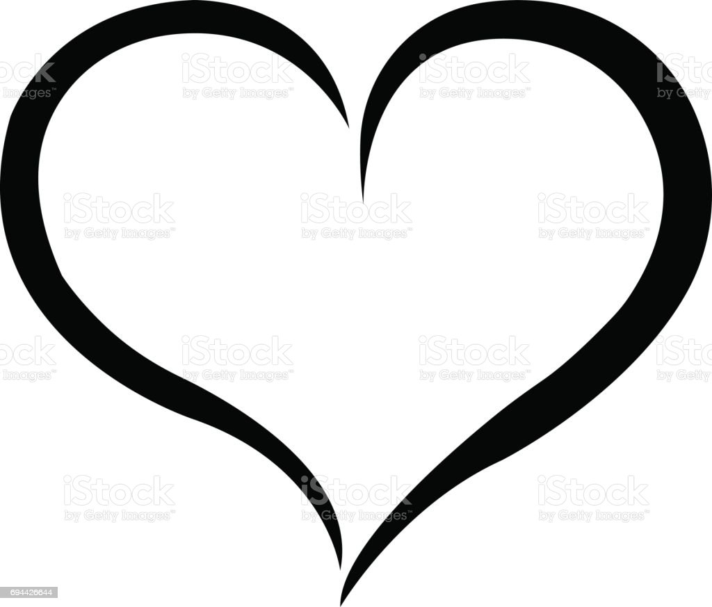 hand drawn heart vector calligraphy stock vector art more images rh istockphoto com heart vector clip art heart vector art black and white