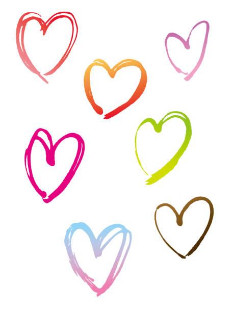 hand drawn Heart vector art illustration