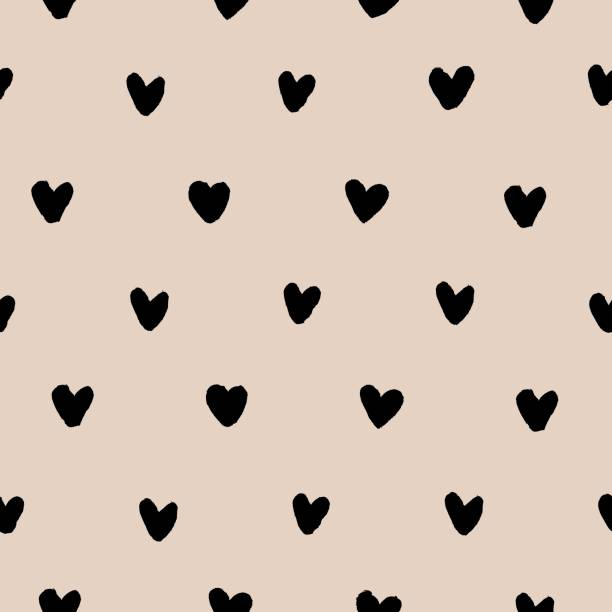 Bекторная иллюстрация Hand drawn hearts seamless pattern vector