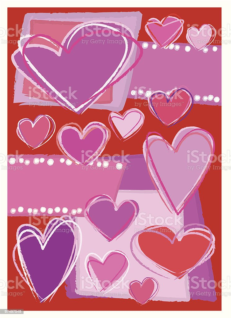 Hand Drawn Hearts Valentines Day Card royalty-free hand drawn hearts valentines day card stock vector art & more images of adult