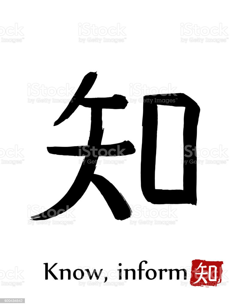 Hand drawn hieroglyph translate know inform vector japanese black hand drawn hieroglyph translate know inform vector japanese black symbol on white background with stopboris Image collections