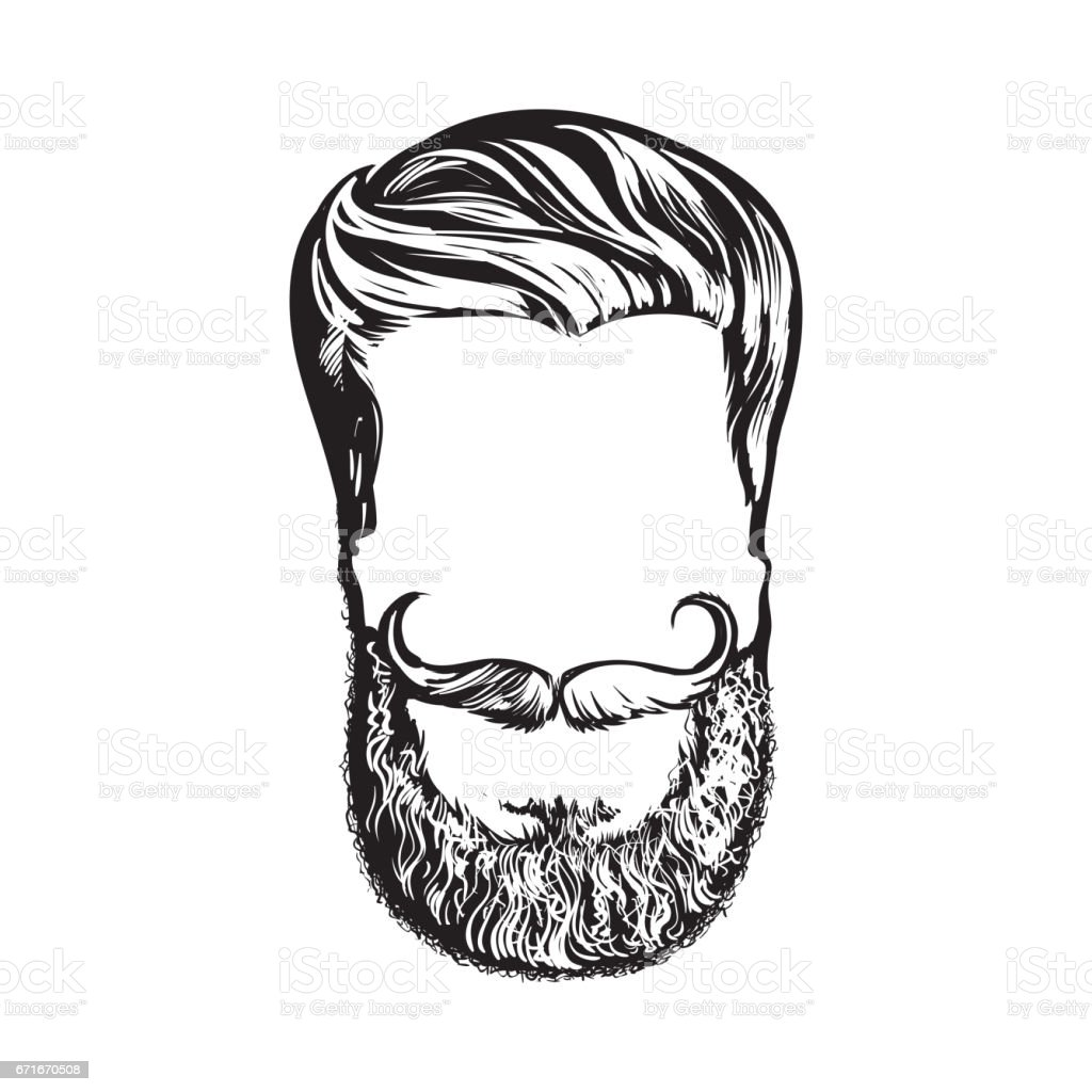 how to draw a beard and mustache on your face
