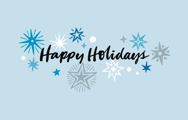 手繪假日卡 - happy holidays 幅插畫檔、美工圖案、卡通及圖標