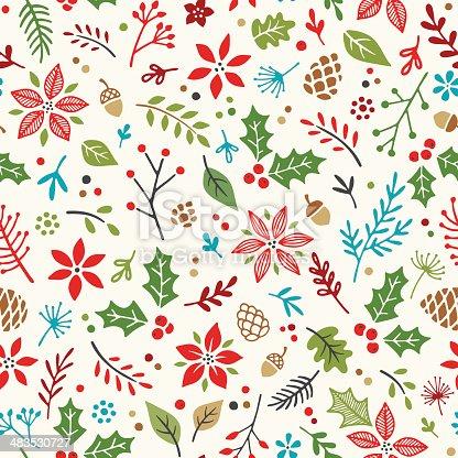 istock Hand Drawn Holiday Seamless Pattern 483530727