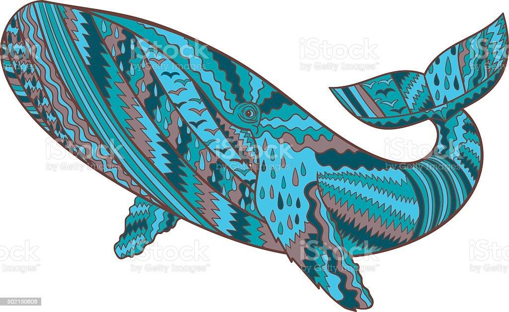 Main Tire Des Baleines A Bosse Vecteurs Libres De Droits Et Plus D
