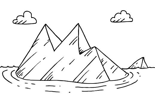 Hand drawn iceberg