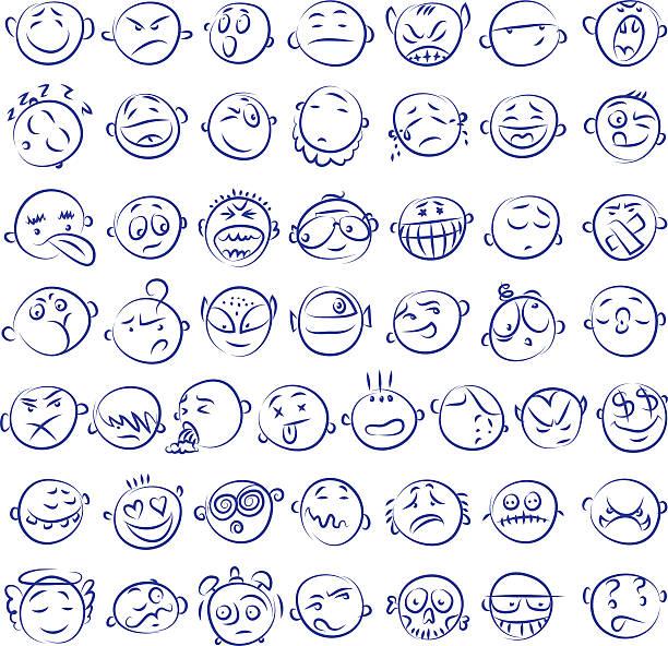 手描きのアイコン - 怒りの絵文字点のイラスト素材/クリップアート素材/マンガ素材/アイコン素材