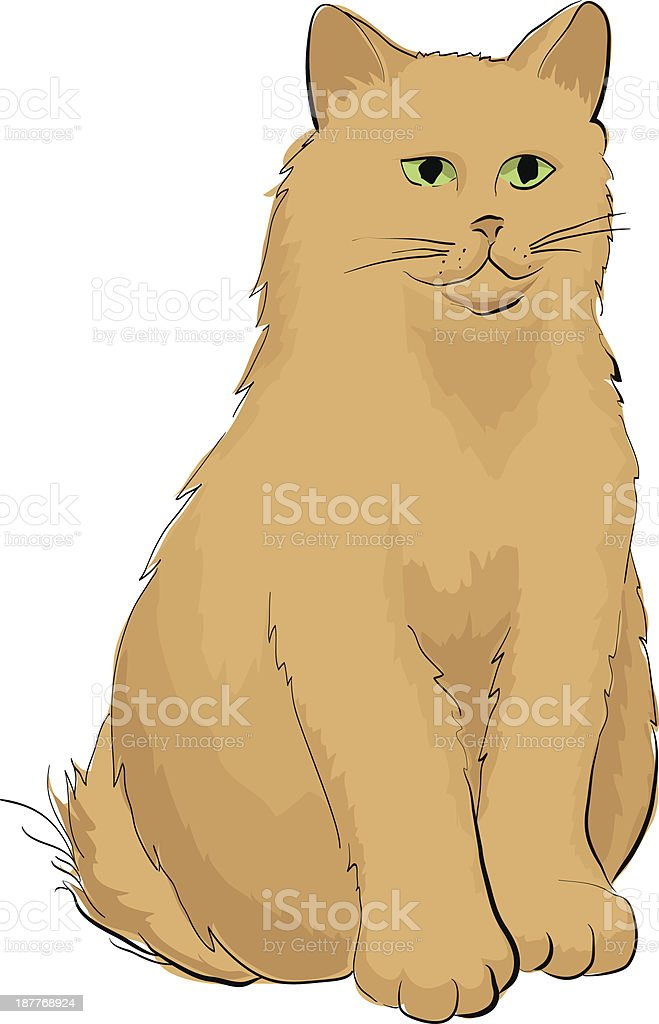 Hand drawn illustration of cat royalty-free stock vector art