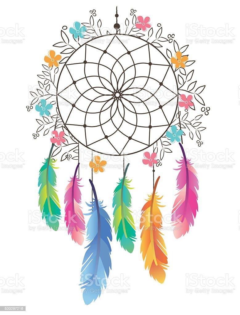 Mano disegno illustrazione di acchiappasogni simbolo for Acchiappasogni disegno