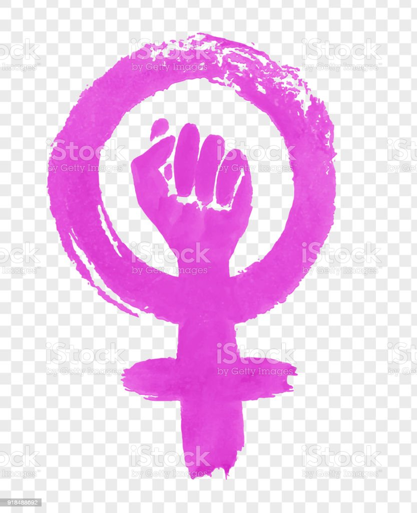 Hand drawn illustration of Feminism protest symbol vector art illustration