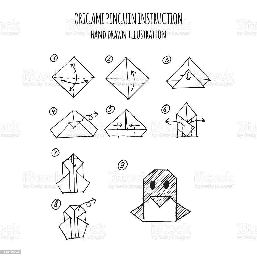 Origami Penguin | Origami penguin, Origami easy, Origami patterns | 1024x1024