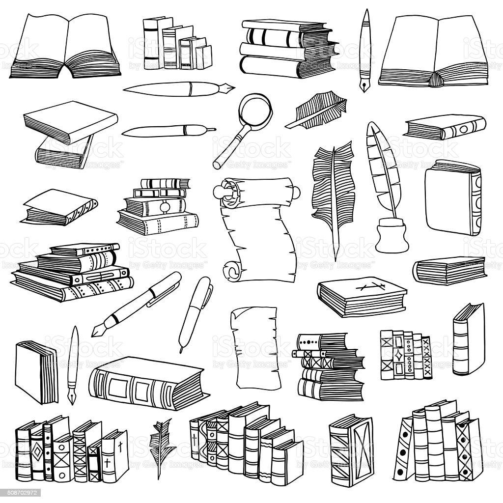 Book Cover Bookshelf Drawing