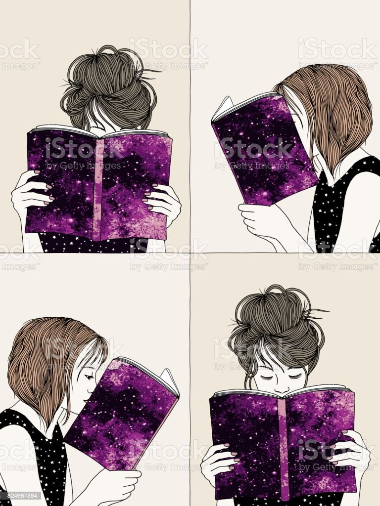Hand drawn illustrations of girls reading royalty-free hand drawn illustrations of girls reading stock vector art & more images of adult